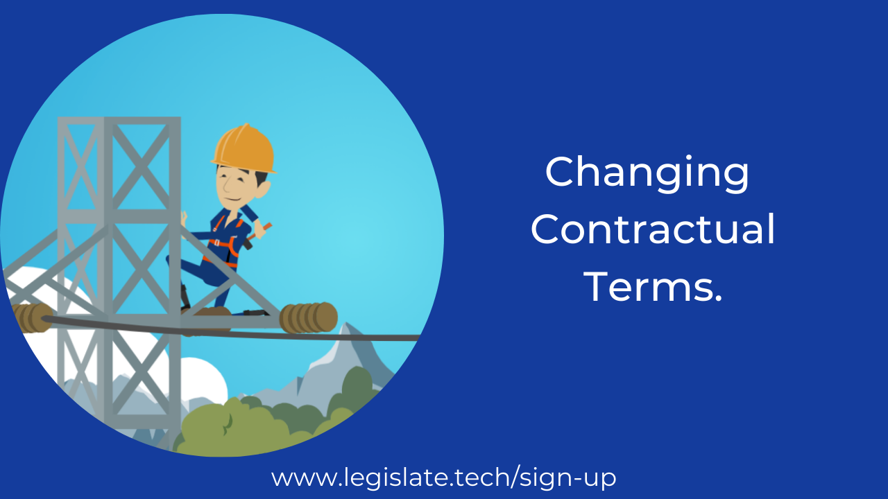 Can I change the terms of the tenancy agreement?