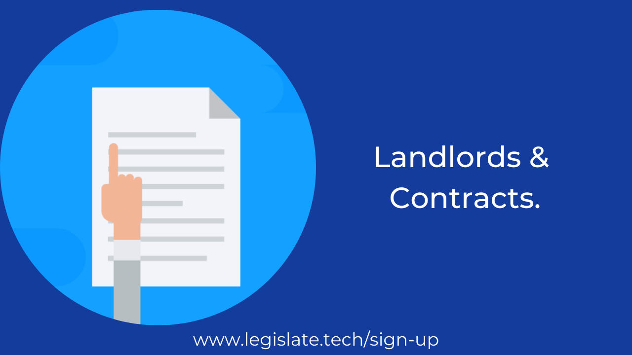 What contract does a landlord need?
