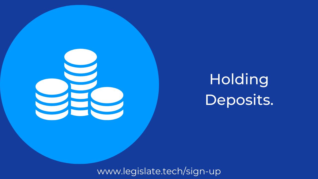 Holding Deposits