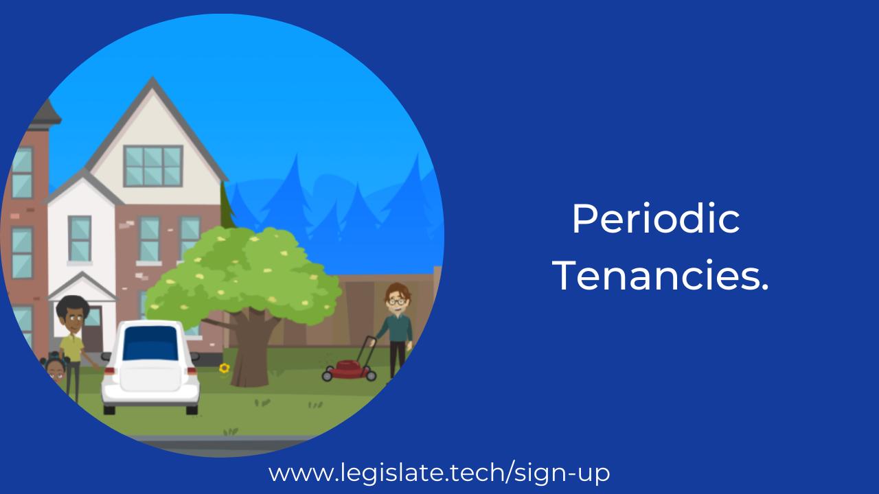 What are periodic tenancies?