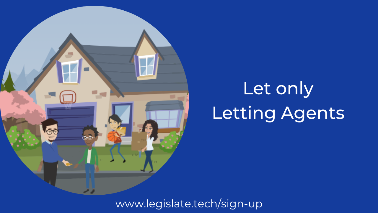 What does a 'let only' letting agent do?