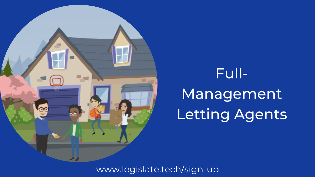 What does a 'full management' letting agent do?