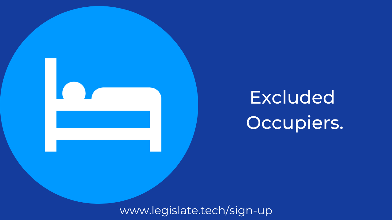 Excluded Occupiers: When can an occupier be evicted without a court order?