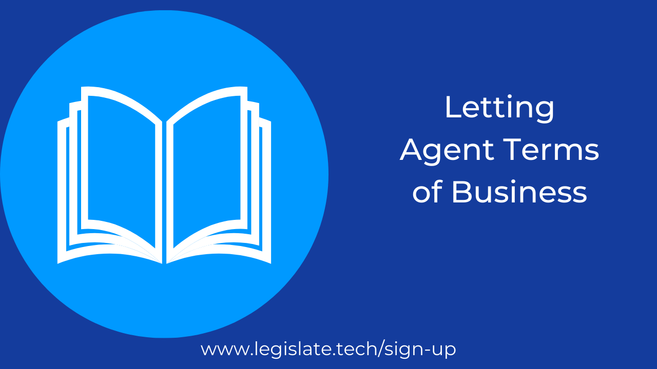 Letting Agent Terms of Business