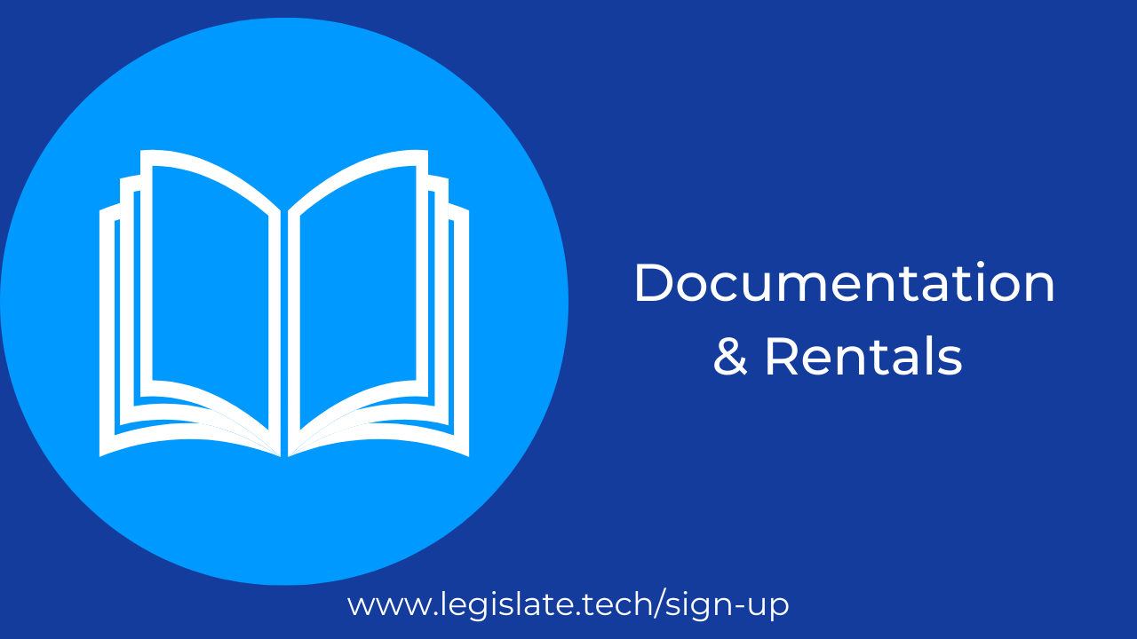 Documentation and Rentals