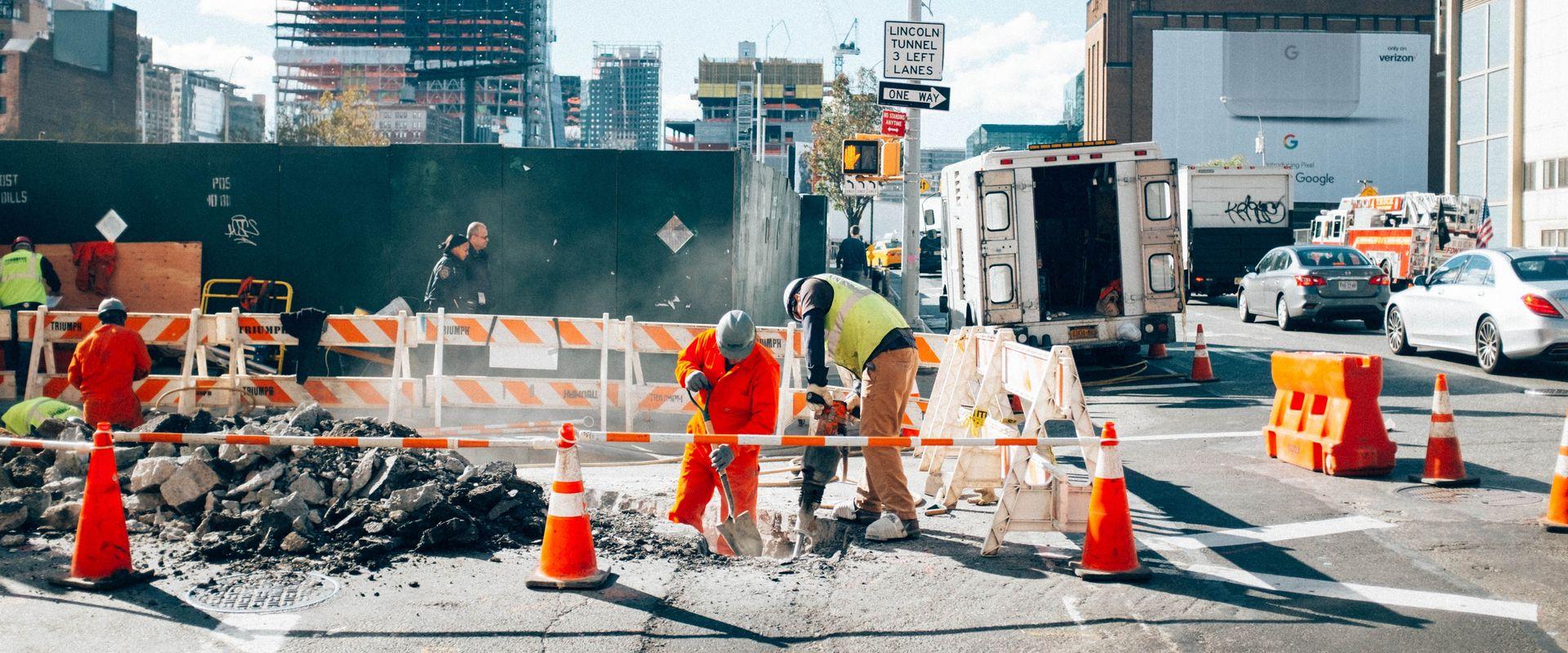 construction site downtown