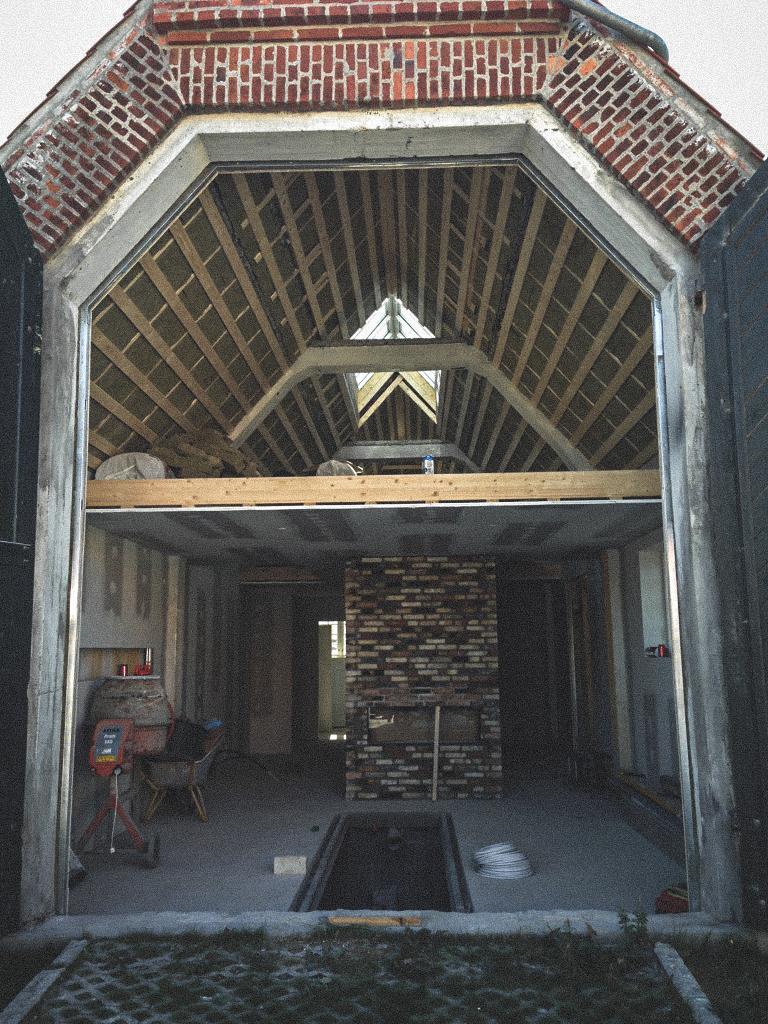 Billede af et igangværende byggeri i Skagen, tegnet af arkitektfirmaet m2plus.