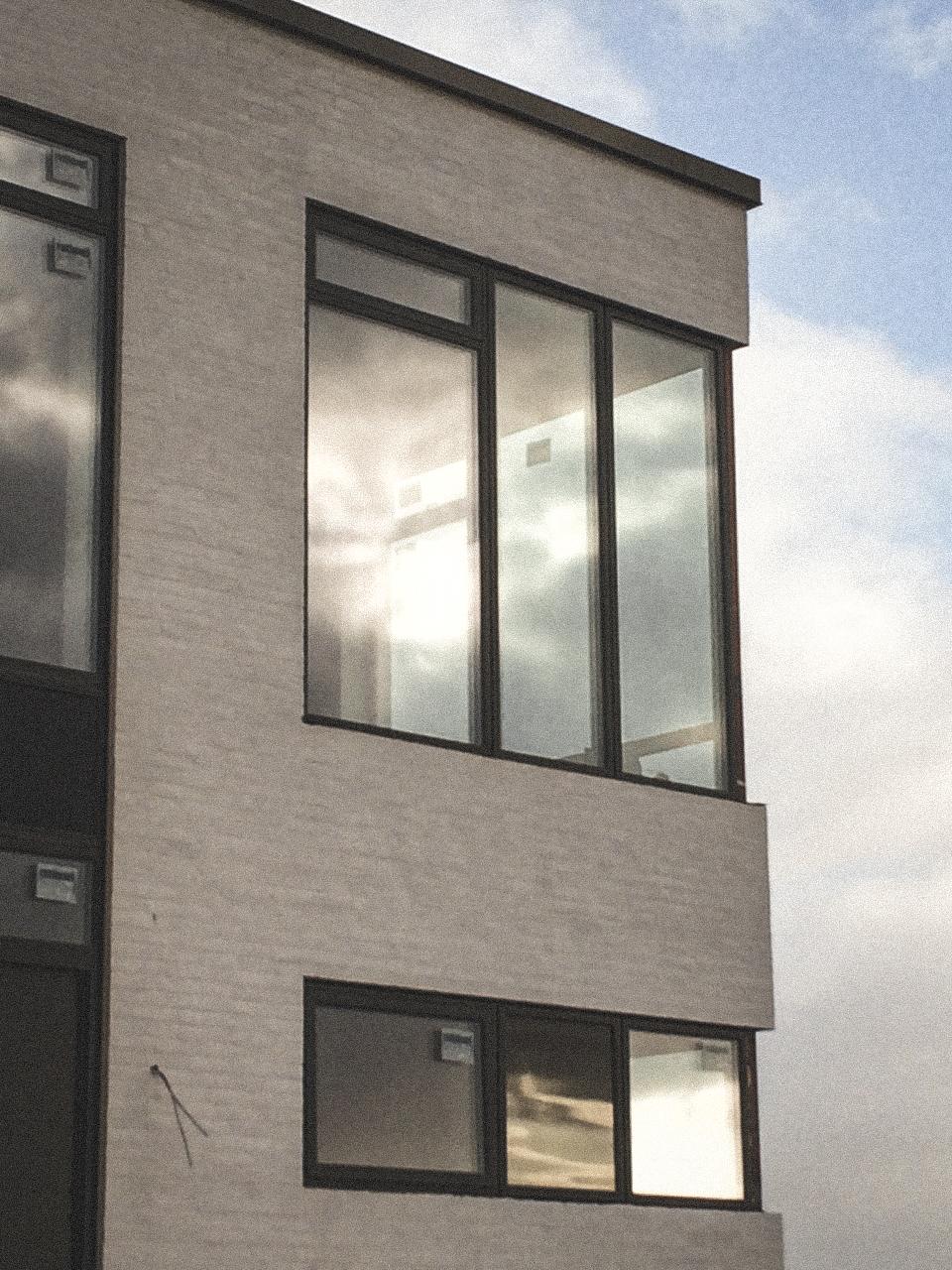 Billede af et igangværende byggeri i Skive , tegnet af arkitektfirmaet m2plus.
