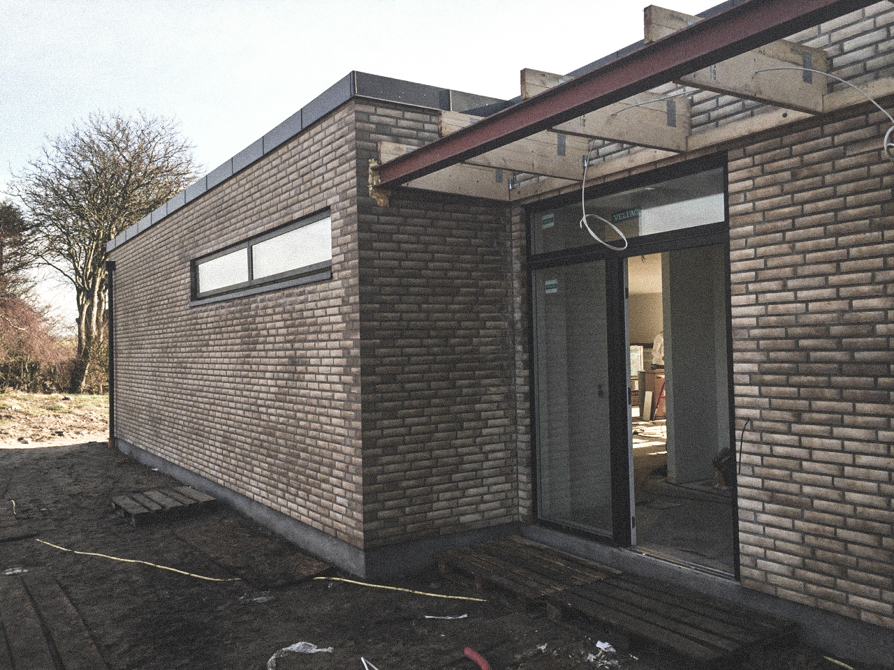 Billede af et igangværende byggeri i Thisted , tegnet af arkitektfirmaet m2plus.