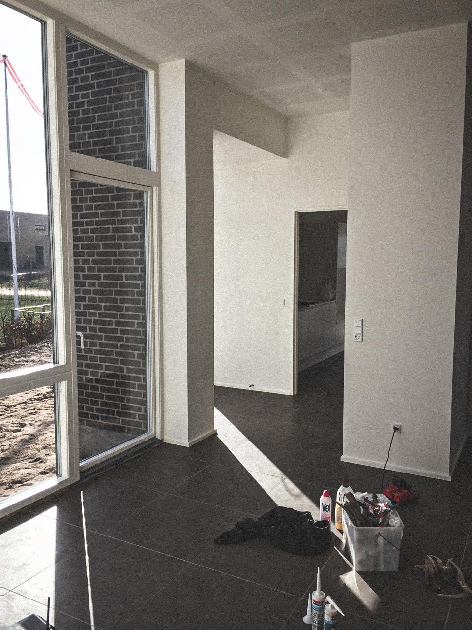 Billede af et igangværende byggeri i Horsens, tegnet af arkitektfirmaet m2plus.