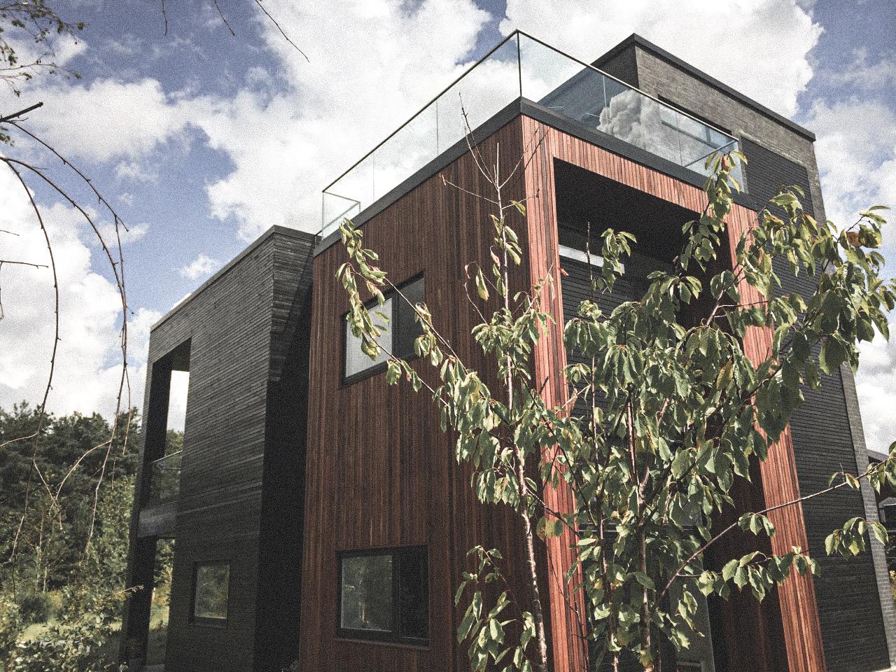 Billede af villa i Glostrup efter indflytning, tegnet af arkitektfirmaet m2plus.