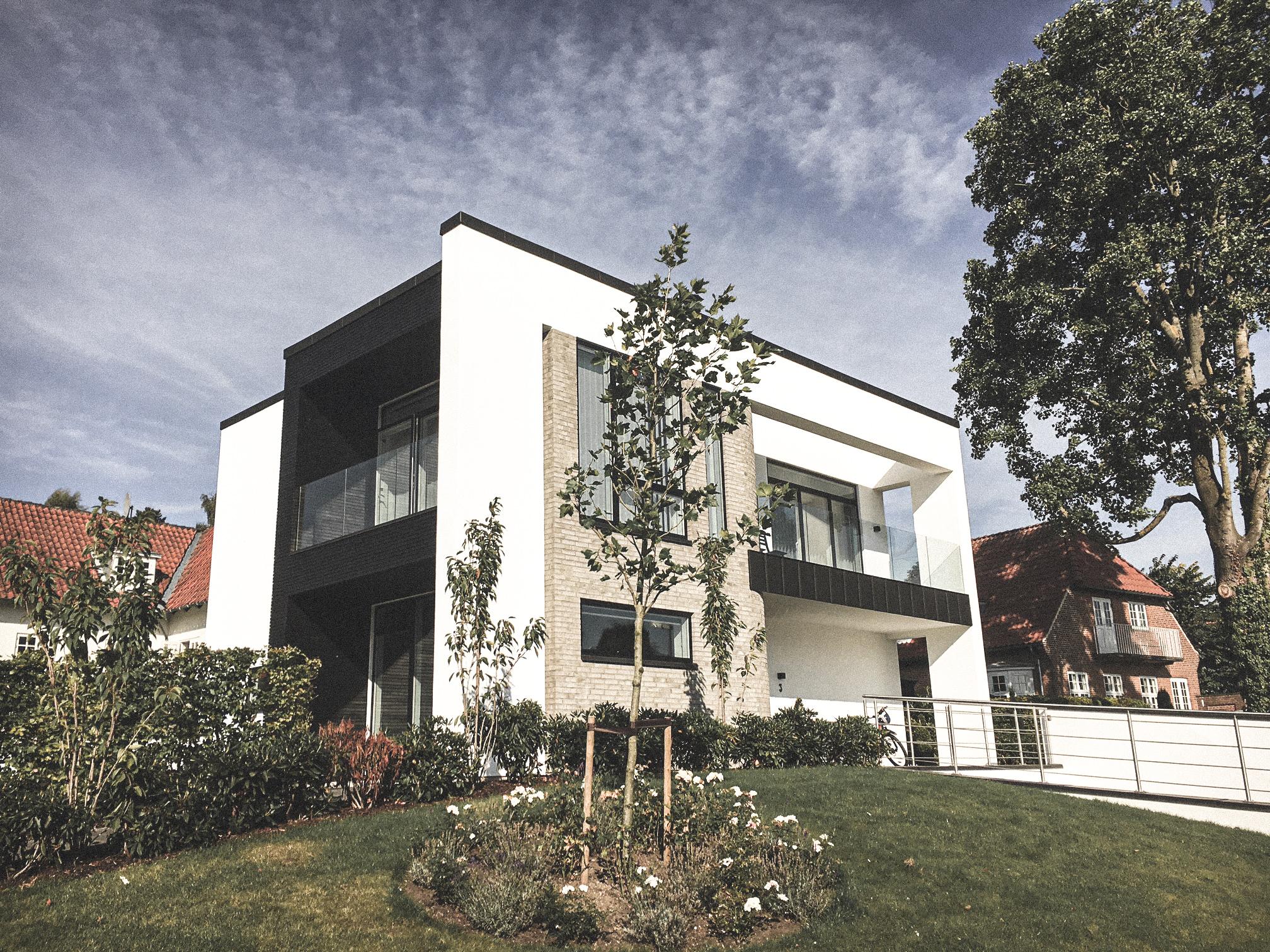 Billede af villa i Viborg efter indflytning, tegnet af arkitektfirmaet m2plus.