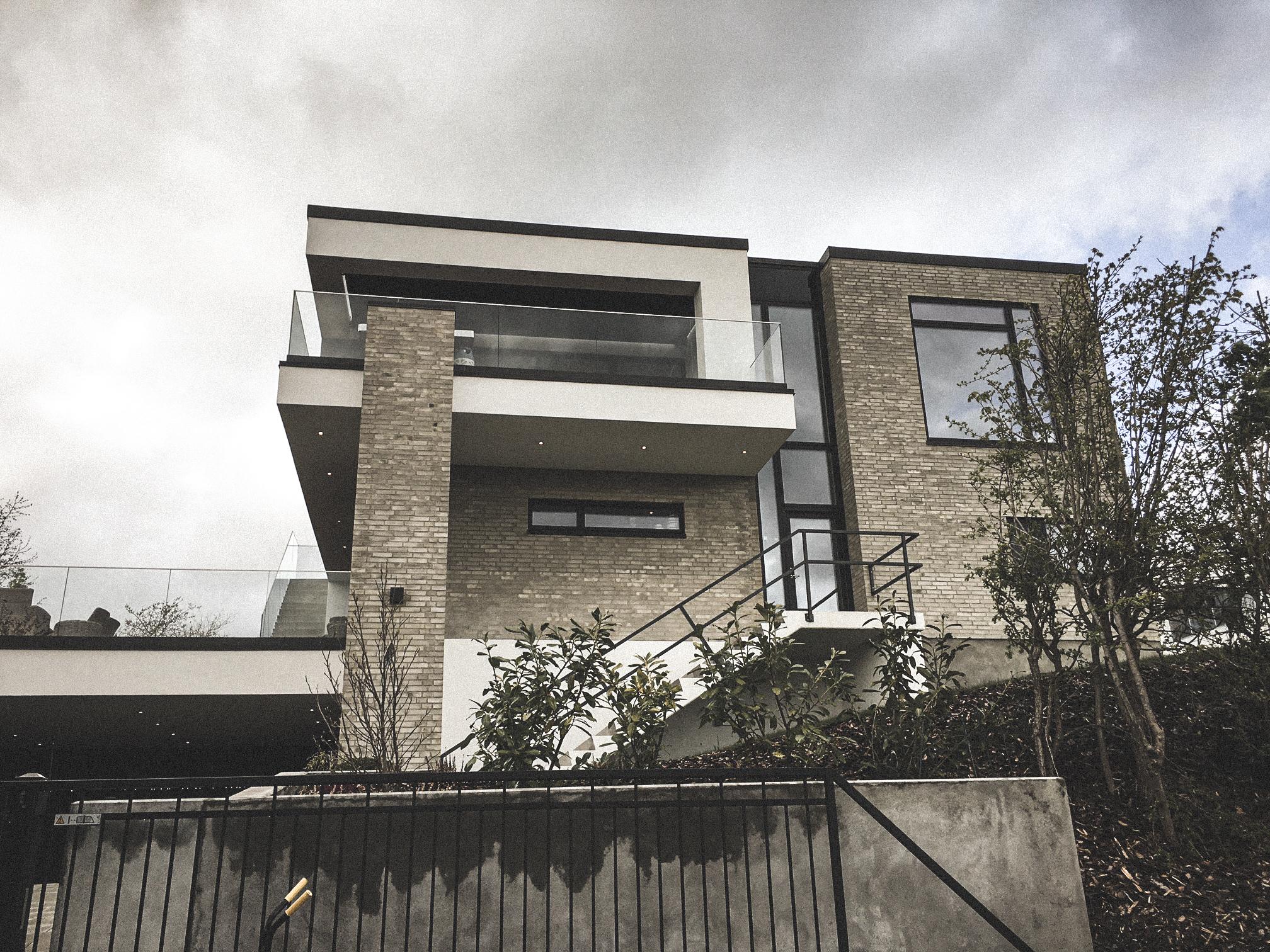 Billede af villa i KOLDING efter indflytning, tegnet af arkitektfirmaet m2plus.
