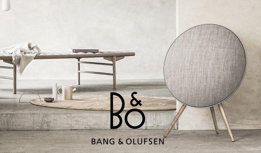 Bang og Olufsen logo og baggrundsbillede, linket til deres side.
