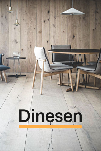 Dinesen logo og baggrundsbillede, linket til deres side.