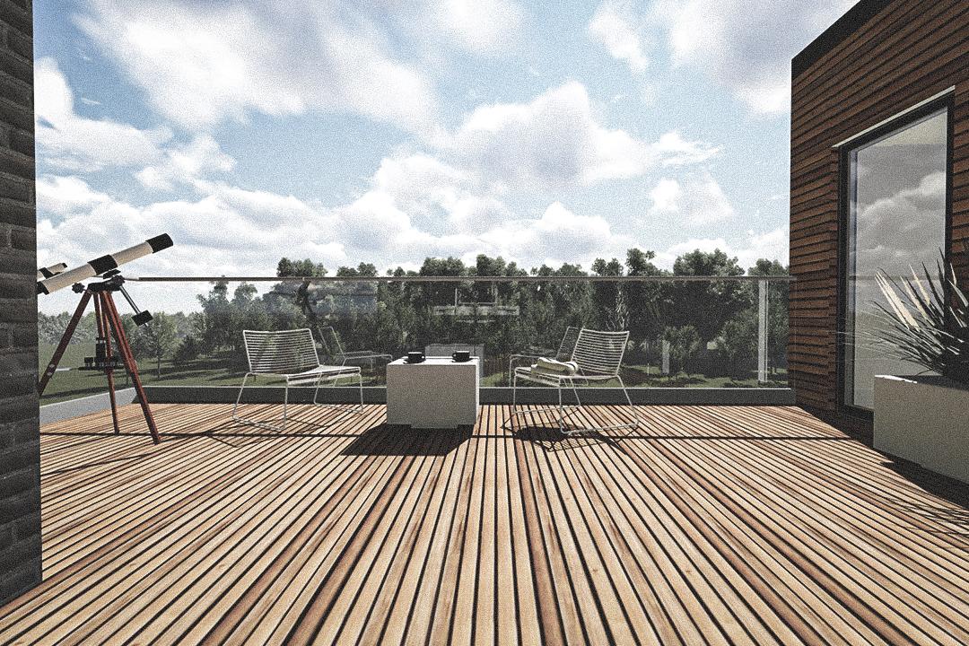 Billede af Dansk arkitekttegnet parterreplan villa af arkitektfirmaet m2plus, i Glostrup Hus B på 192 kvartratmeter.