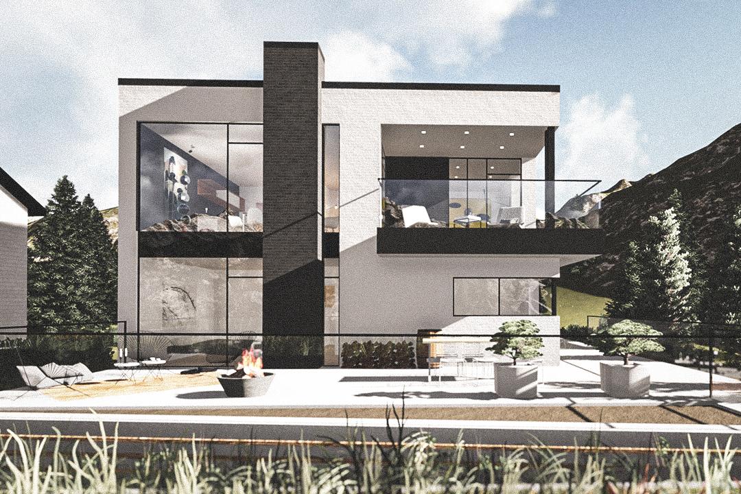 Billede af Dansk arkitekttegnet 2 plan villa af arkitektfirmaet m2plus, i Oslo på 0 kvartratmeter.