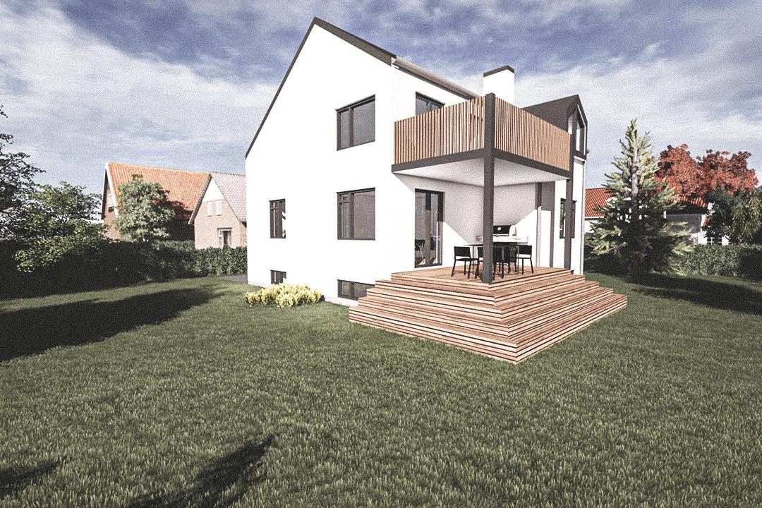 Billede af Dansk arkitekttegnet 3 plan villa af arkitektfirmaet m2plus, i Emdrup Mosevej på 0 kvartratmeter.