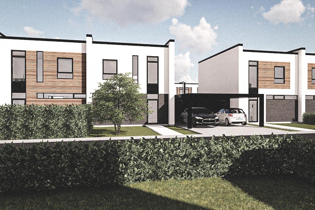 Billede af Dansk arkitekttegnet 2 plan villa af arkitektfirmaet m2plus, i Kolding på 132 kvartratmeter.