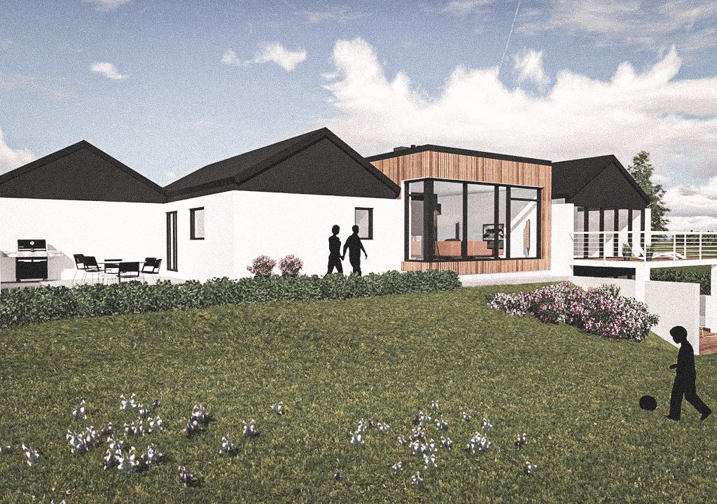 Billede af Dansk arkitekttegnet 1 plan villa af arkitektfirmaet m2plus, i Årøsund på 209 kvartratmeter.