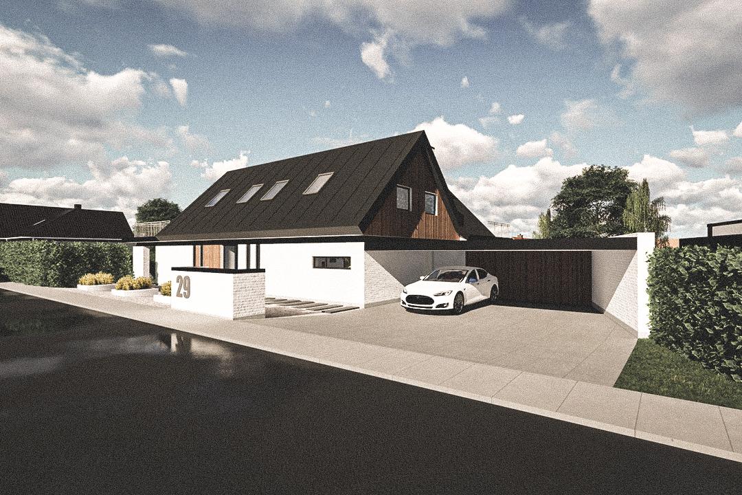 Billede af Dansk arkitekttegnet 2 plan villa af arkitektfirmaet m2plus, i Roskilde på 0 kvartratmeter.