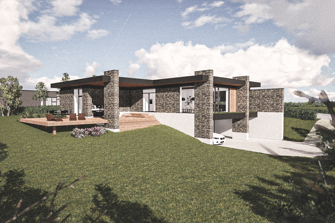 Billede af Dansk arkitekttegnet 1 plan villa af arkitektfirmaet m2plus, i Høje Støvring på 221 kvartratmeter.