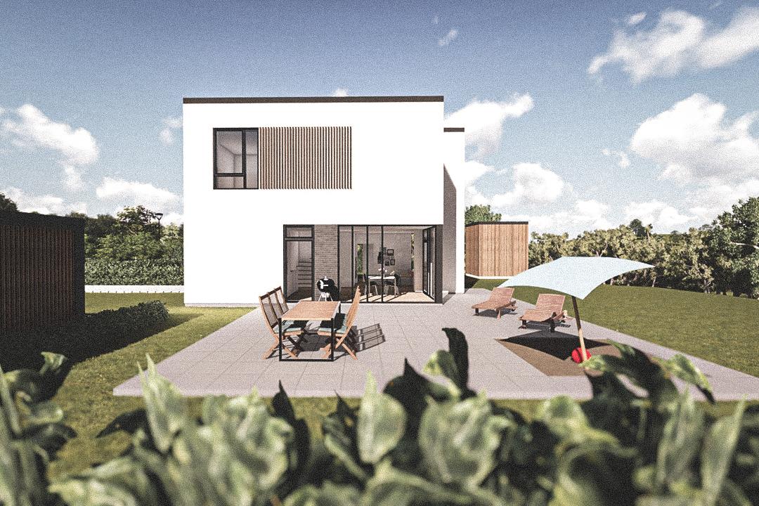 Billede af Dansk arkitekttegnet 2 plan villa af arkitektfirmaet m2plus, i Form 159 - m² concept på 159 kvartratmeter.