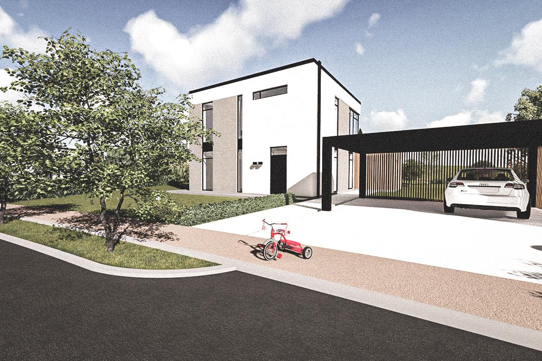 Billede af Dansk arkitekttegnet 2 plan villa af arkitektfirmaet m2plus, i Form 183 - m² concept på 183 kvartratmeter.