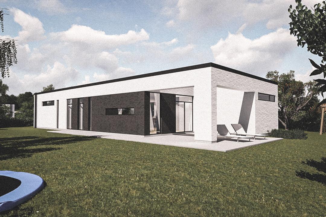 Billede af Dansk arkitekttegnet 1 plan villa af arkitektfirmaet m2plus, i Form 160 - m²concept på 160 kvartratmeter.