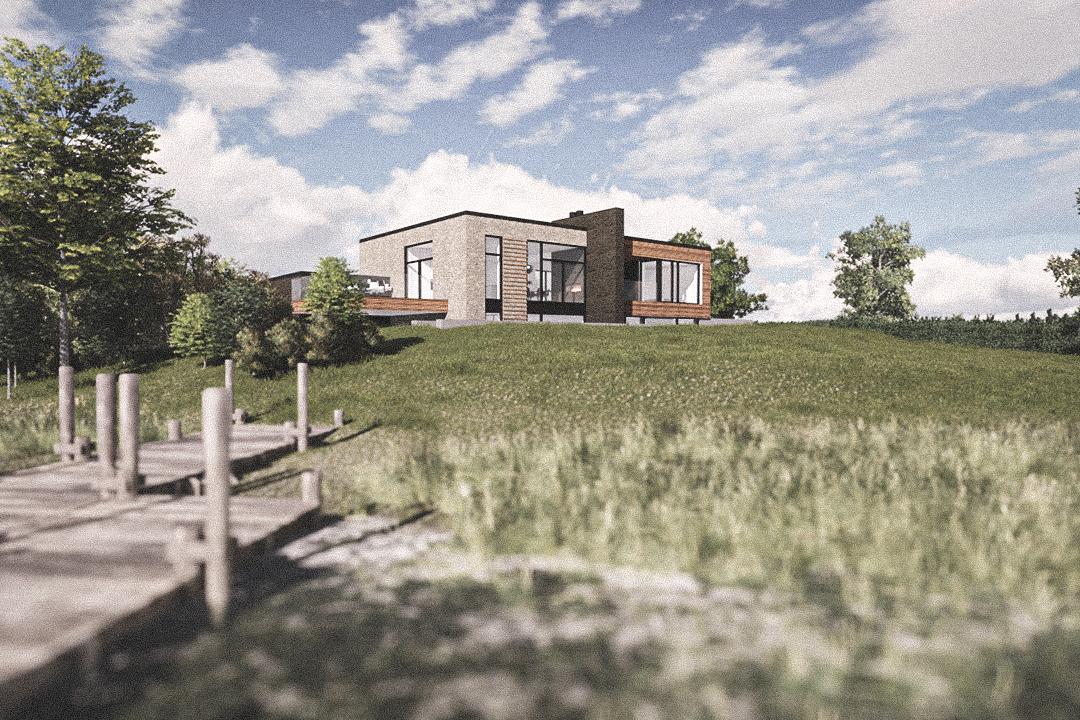 Billede af Dansk arkitekttegnet 2 plan villa af arkitektfirmaet m2plus, i Silkeborg på 306 kvartratmeter.
