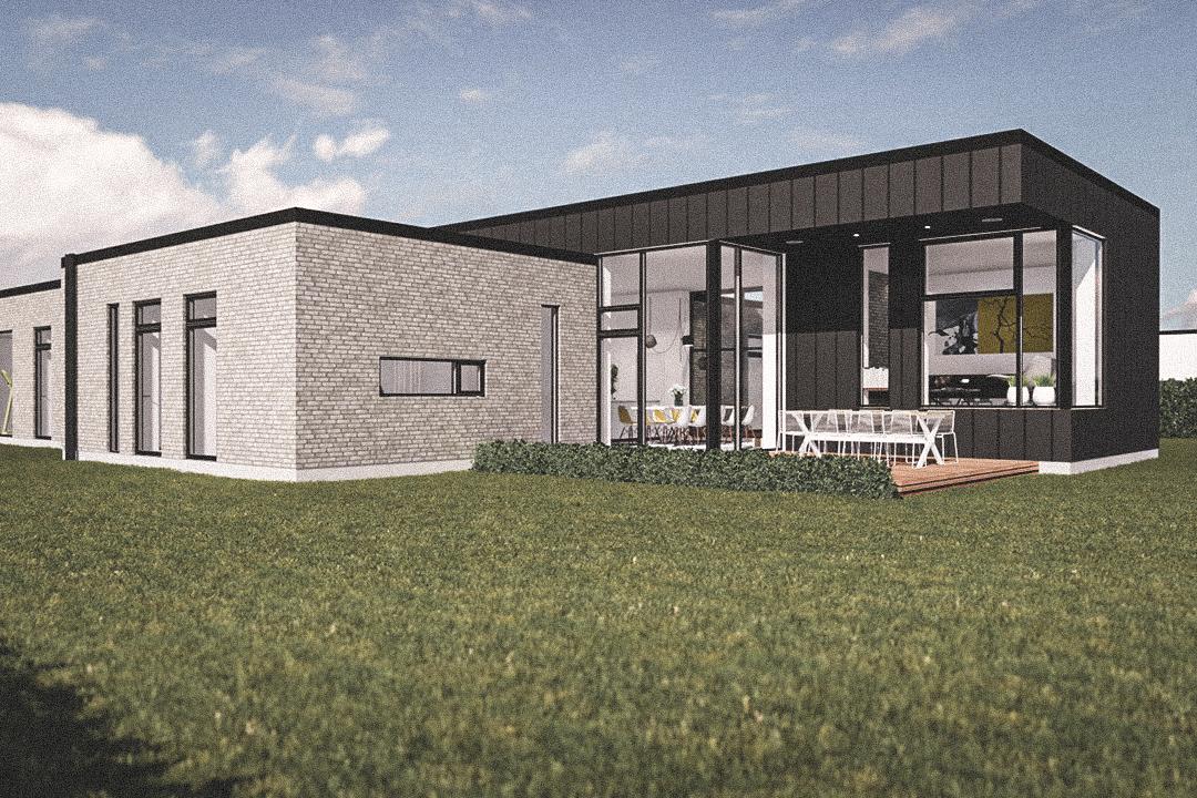 Billede af Dansk arkitekttegnet 1 plan villa af arkitektfirmaet m2plus, i Aabybro på 211 kvartratmeter.
