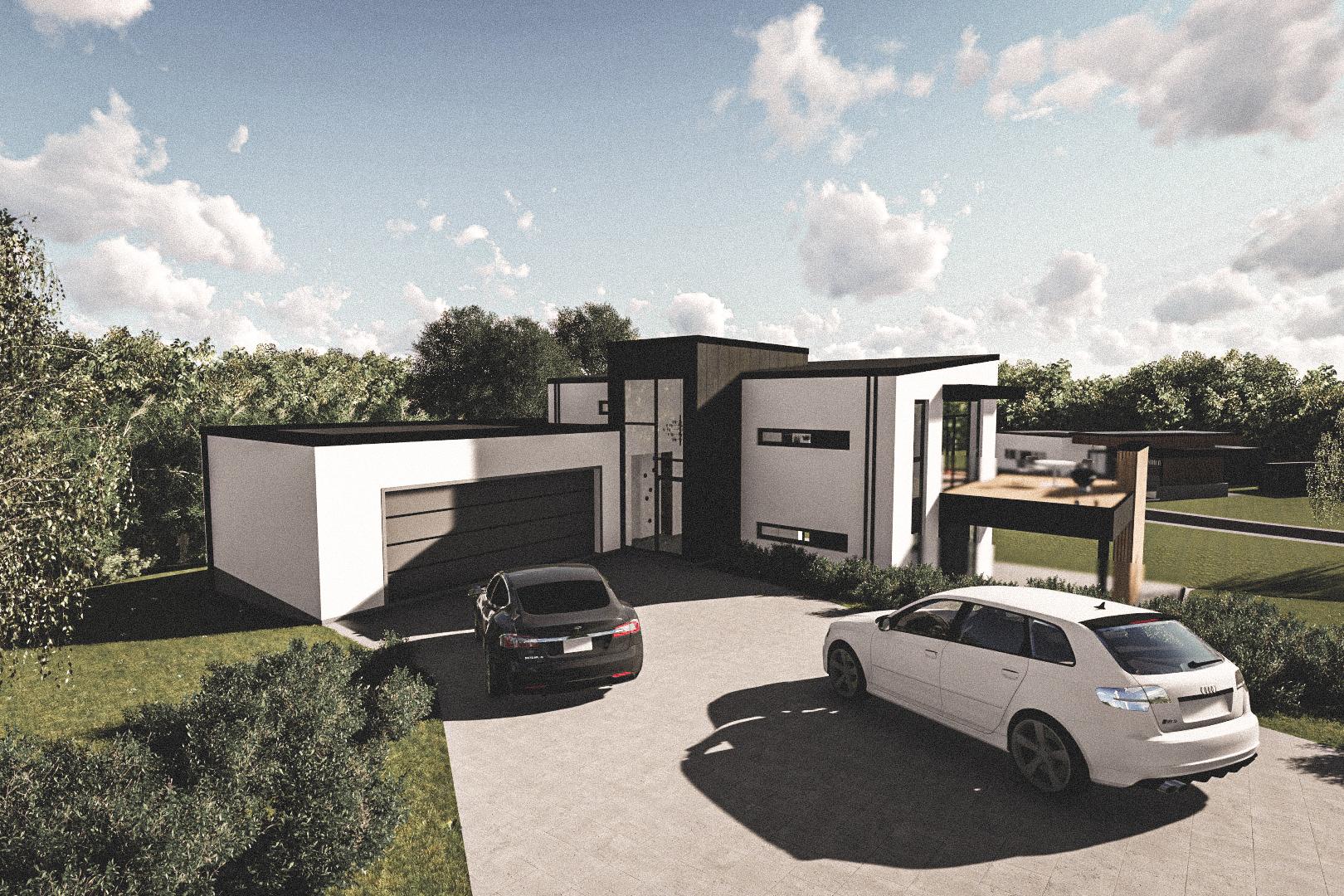 Billede af Dansk arkitekttegnet parterreplan villa af arkitektfirmaet m2plus, i Haderslev på 224 kvartratmeter.
