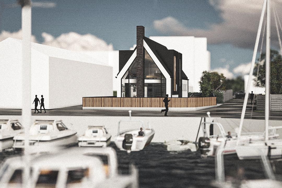 Billede af Dansk arkitekttegnet 2 plan villa af arkitektfirmaet m2plus, i Taarbæk på 147 kvartratmeter.