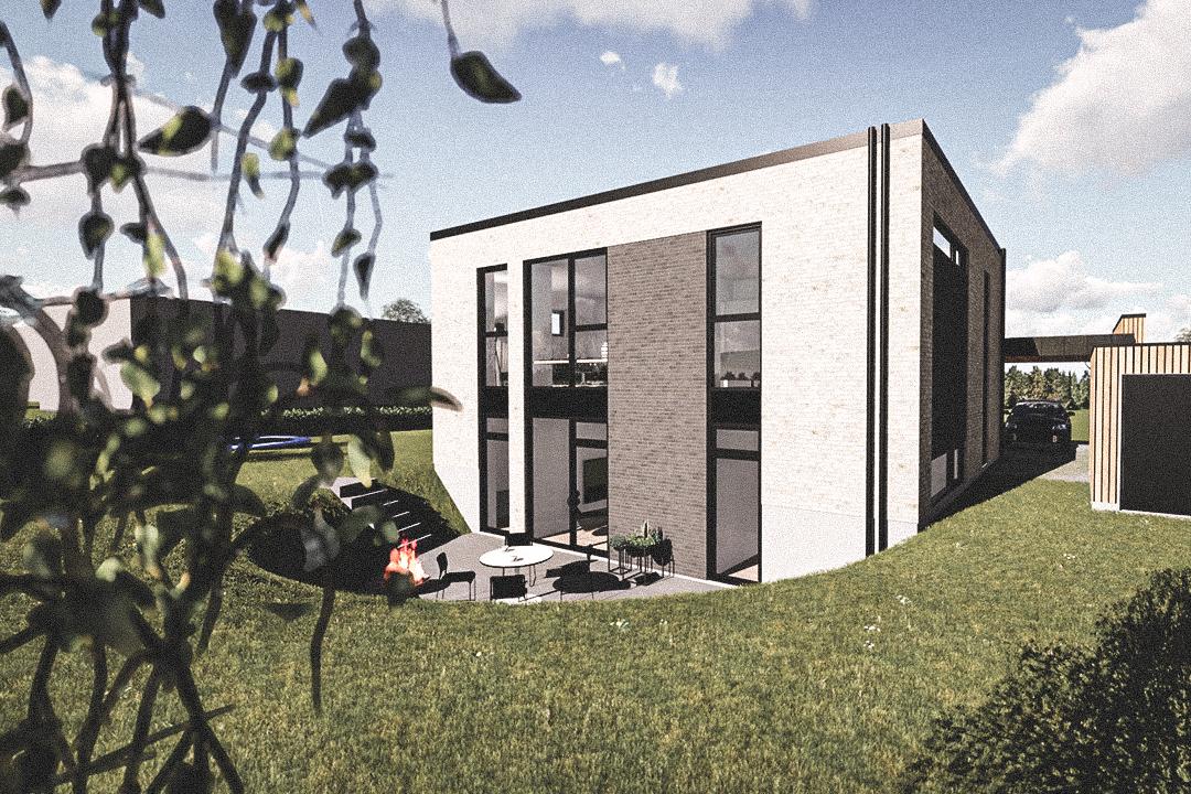 Billede af Dansk arkitekttegnet 2 plan villa af arkitektfirmaet m2plus, i Silkeborg på 214 kvartratmeter.