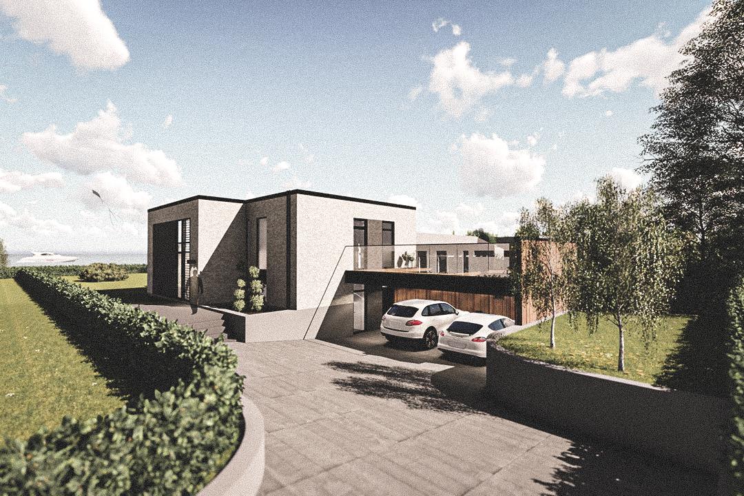 Billede af Dansk arkitekttegnet 2 plan villa af arkitektfirmaet m2plus, i Dragør på 237 kvartratmeter.