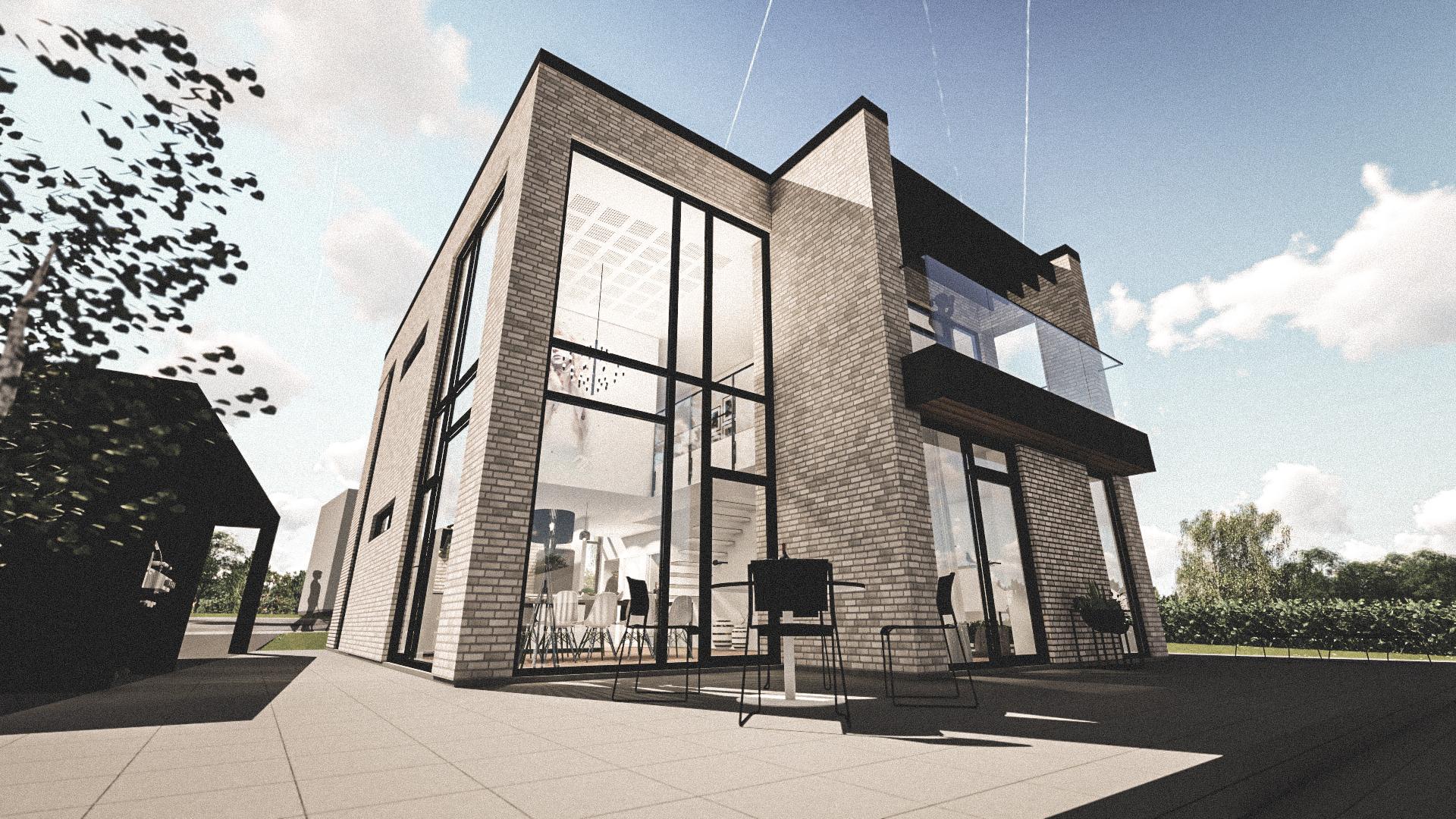 Billede af Dansk arkitekttegnet 2 plan villa af arkitektfirmaet m2plus, i Odense på 192 kvartratmeter.