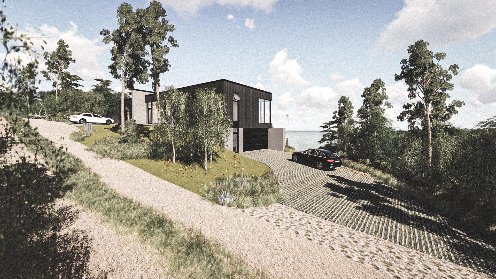 Billede af Dansk arkitekttegnet 2 plan villa af arkitektfirmaet m2plus, i Silkeborg på 262 kvartratmeter.