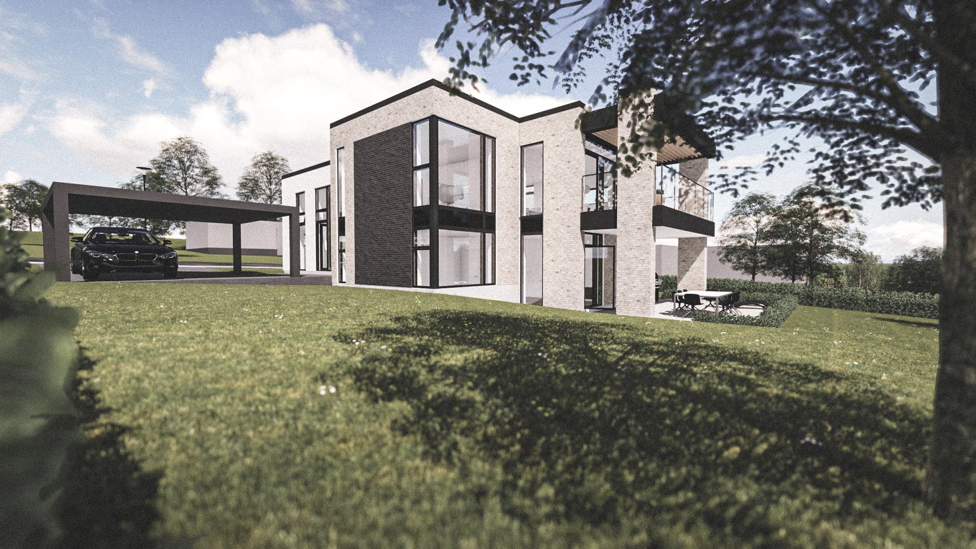 Billede af Dansk arkitekttegnet parterreplan villa af arkitektfirmaet m2plus, i Viborg på 228 kvartratmeter.