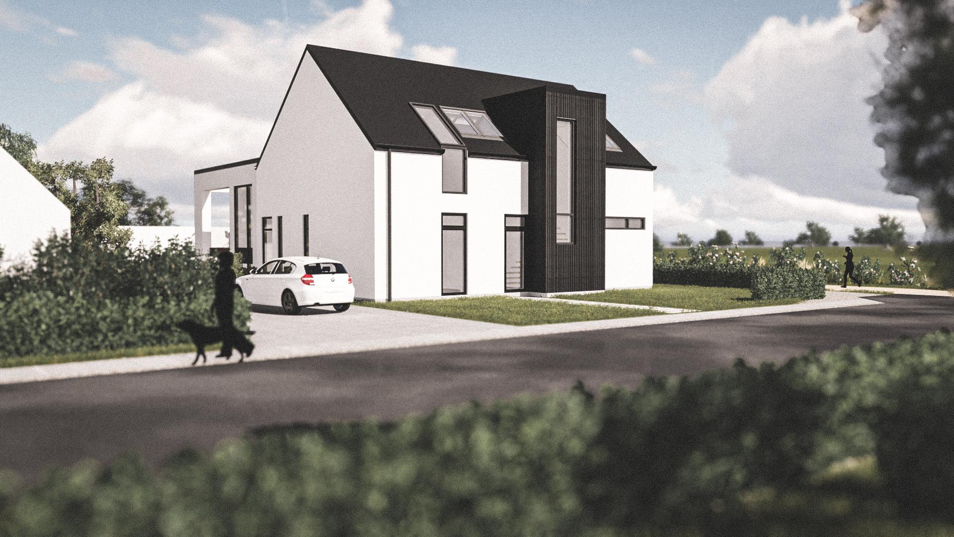 Billede af Dansk arkitekttegnet 2 plan villa af arkitektfirmaet m2plus, i Roskilde på 331 kvartratmeter.