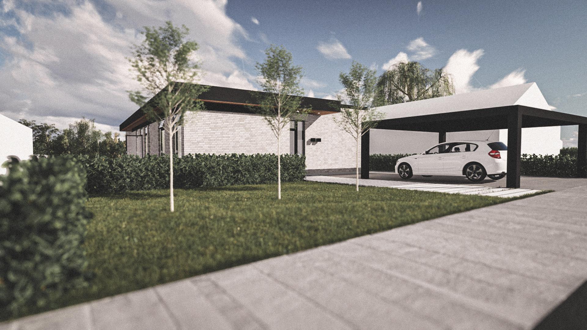 Billede af Dansk arkitekttegnet 1 plan villa af arkitektfirmaet m2plus, i Viborg på 169 kvartratmeter.