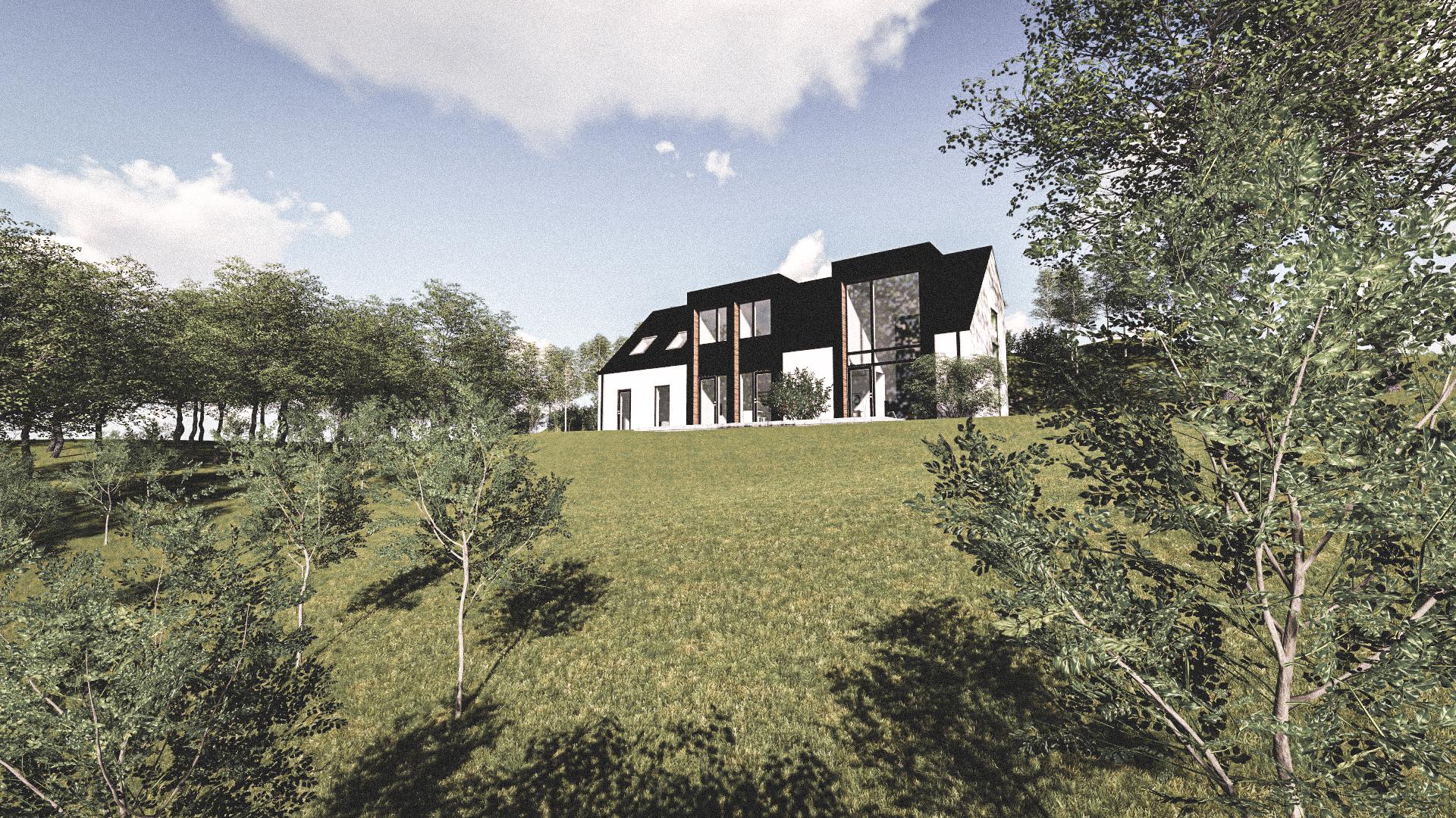 Billede af Dansk arkitekttegnet 3 plan villa af arkitektfirmaet m2plus, i VEJLE på 294 kvartratmeter.