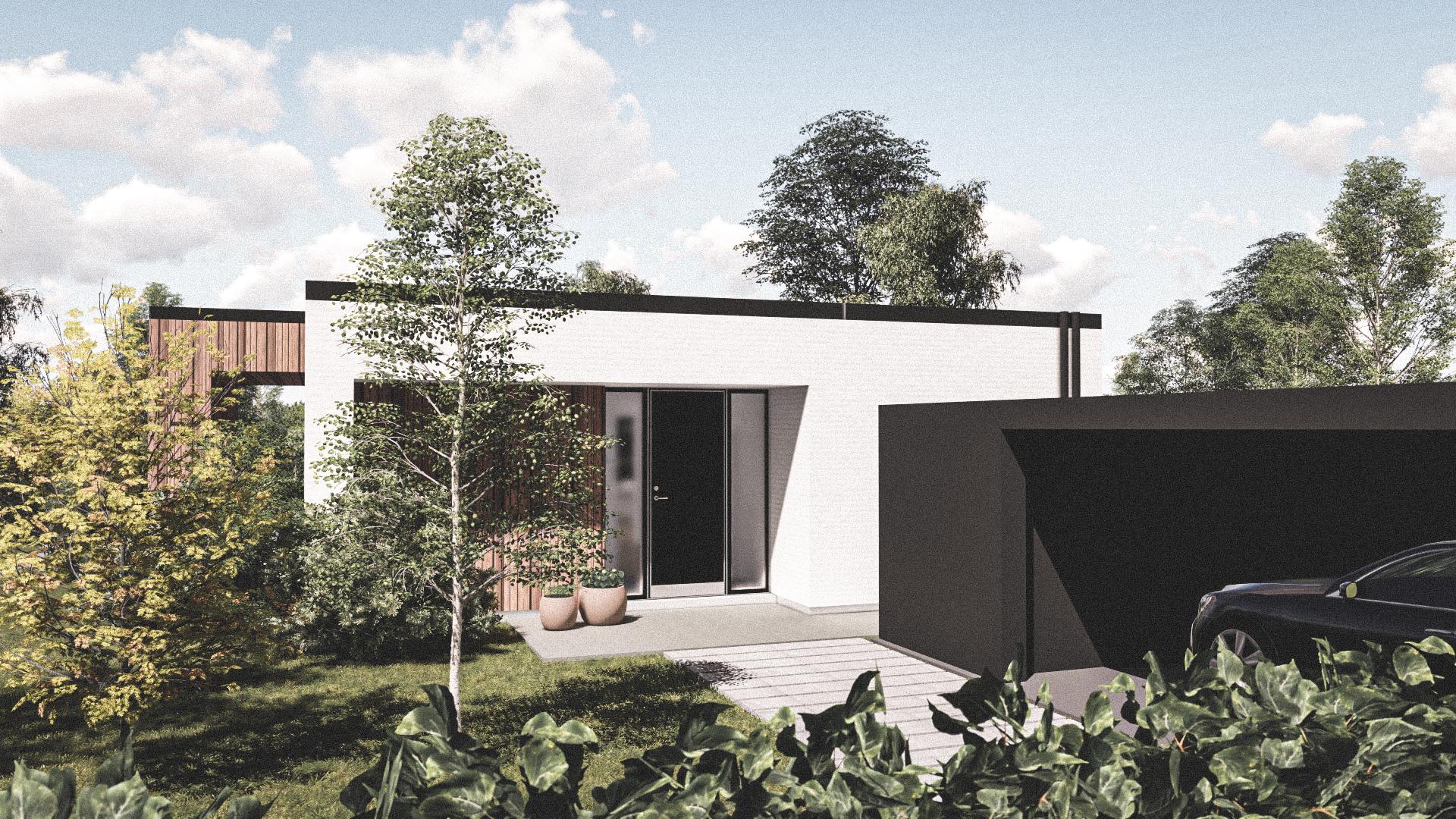 Billede af Dansk arkitekttegnet 1 plan villa af arkitektfirmaet m2plus, i Ballerup på 189 kvartratmeter.