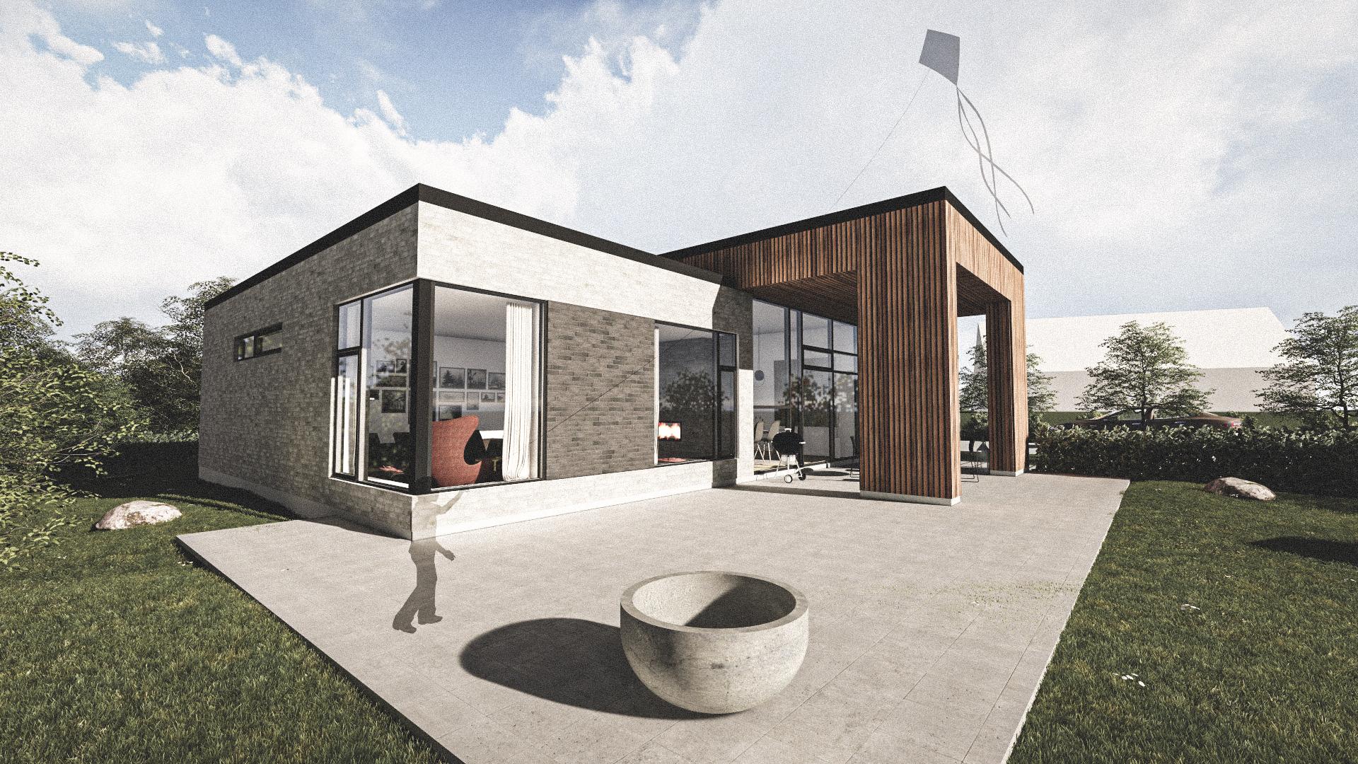 Billede af Dansk arkitekttegnet 1 plan villa af arkitektfirmaet m2plus, i HØJE STØVRING på 198 kvartratmeter.