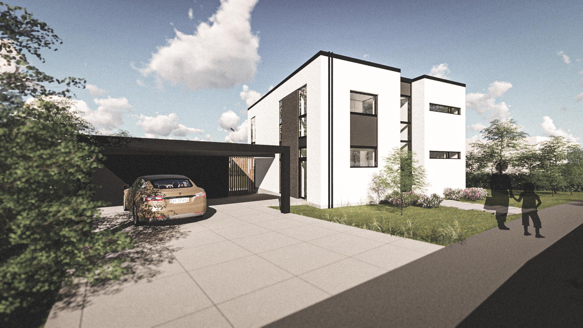 Billede af Dansk arkitekttegnet 2 plan villa af arkitektfirmaet m2plus, i ODENSE på 227 kvartratmeter.