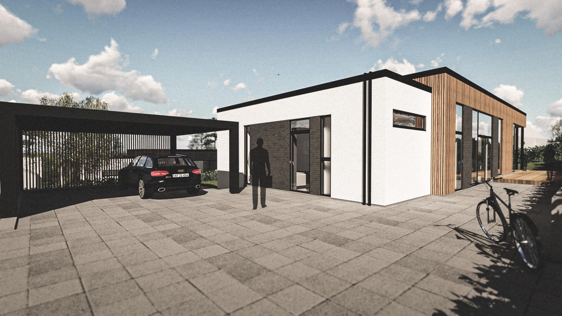 Billede af Dansk arkitekttegnet 1 plan villa af arkitektfirmaet m2plus, i 2 i Rødovre på 173 kvartratmeter.