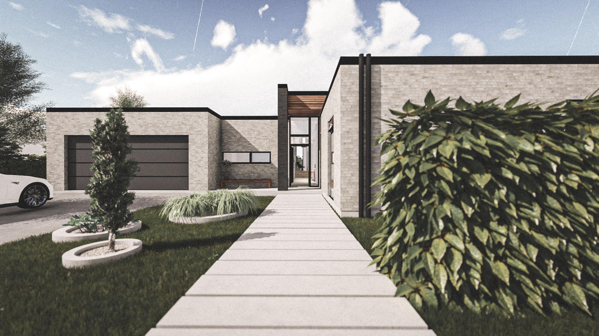 Billede af Dansk arkitekttegnet 1 plan villa af arkitektfirmaet m2plus, i Fredericia på 223 kvartratmeter.