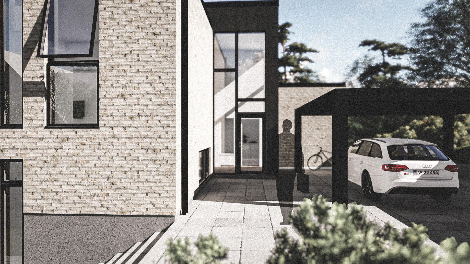 Billede af Dansk arkitekttegnet parterreplan villa af arkitektfirmaet m2plus, i Højbjerg på 236 kvartratmeter.