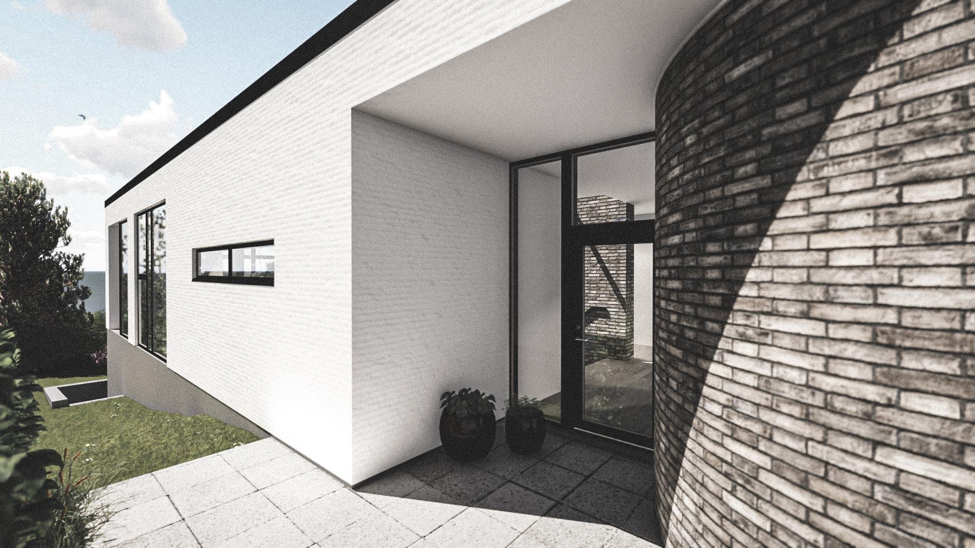 Billede af Dansk arkitekttegnet 1 plan villa af arkitektfirmaet m2plus, i Espergærde på 277 kvartratmeter.