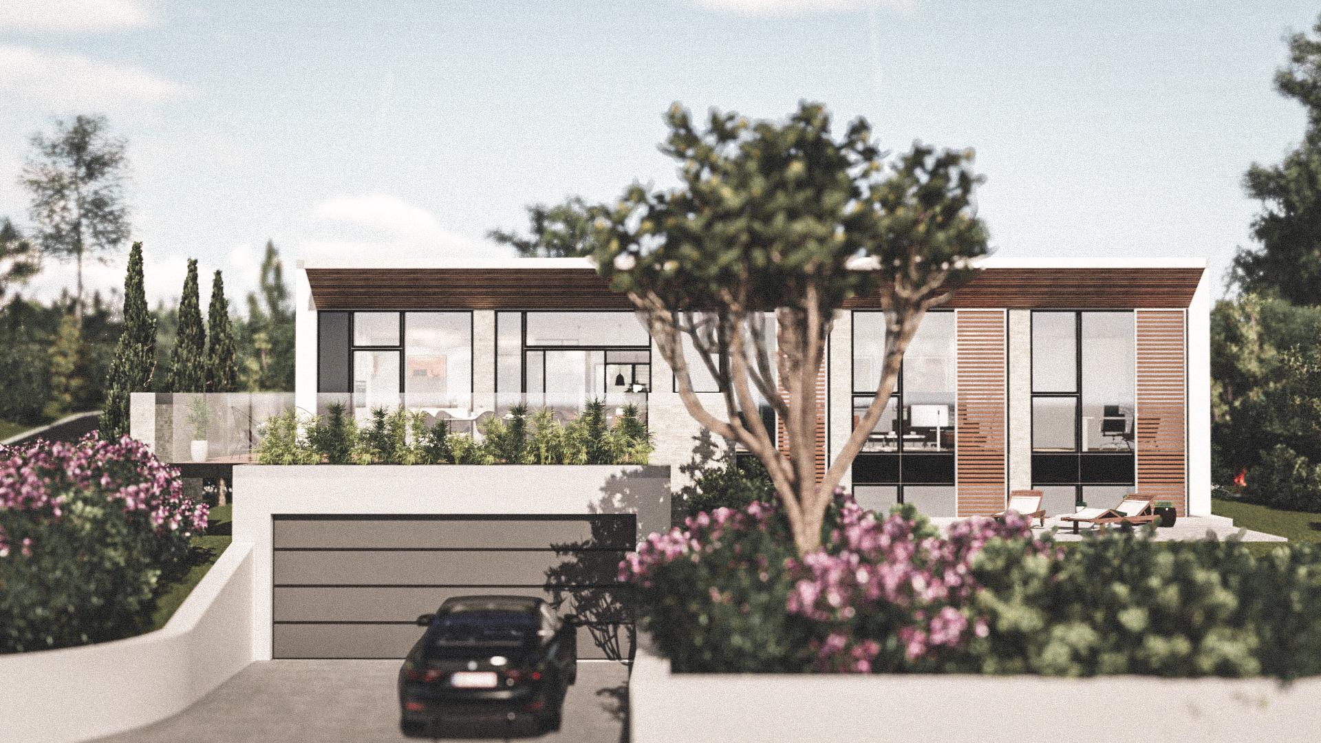 Billede af Dansk arkitekttegnet parterreplan villa af arkitektfirmaet m2plus, i Rungsted Kyst på 259 kvartratmeter.