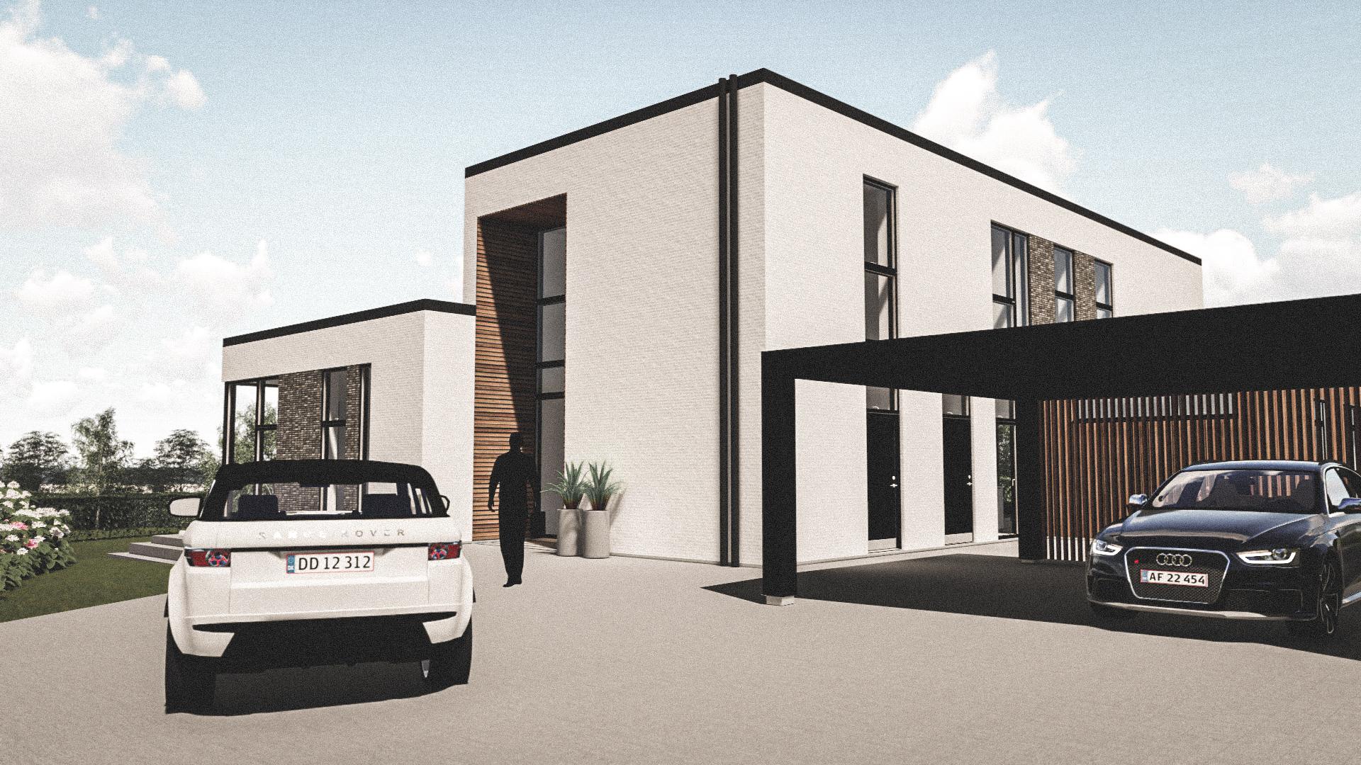 Billede af Dansk arkitekttegnet 2 plan villa af arkitektfirmaet m2plus, i Holbæk på 393 kvartratmeter.
